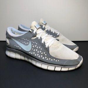 Nike Free Run + Women's White Running Shoes